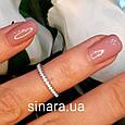 Фалангове кольцо Дорожка серебро родированное, фото 2