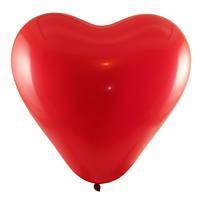 """Латексный шар 12"""" (30 см) Сердце красное"""