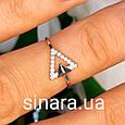 Серебряное фаланговое кольцо Триангл, фото 2