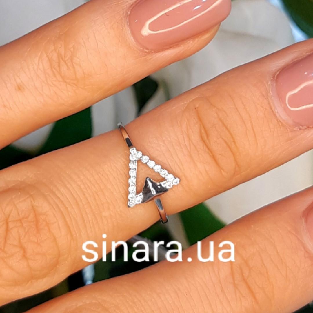 Серебряное фаланговое кольцо Триангл