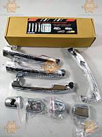 Накладки ручек дверных TOYOTA RAV 4 2005-13г., Corolla E140, CAMRY XV40 2007-11г. (ХРОМ!) (к-кт 4+4шт)