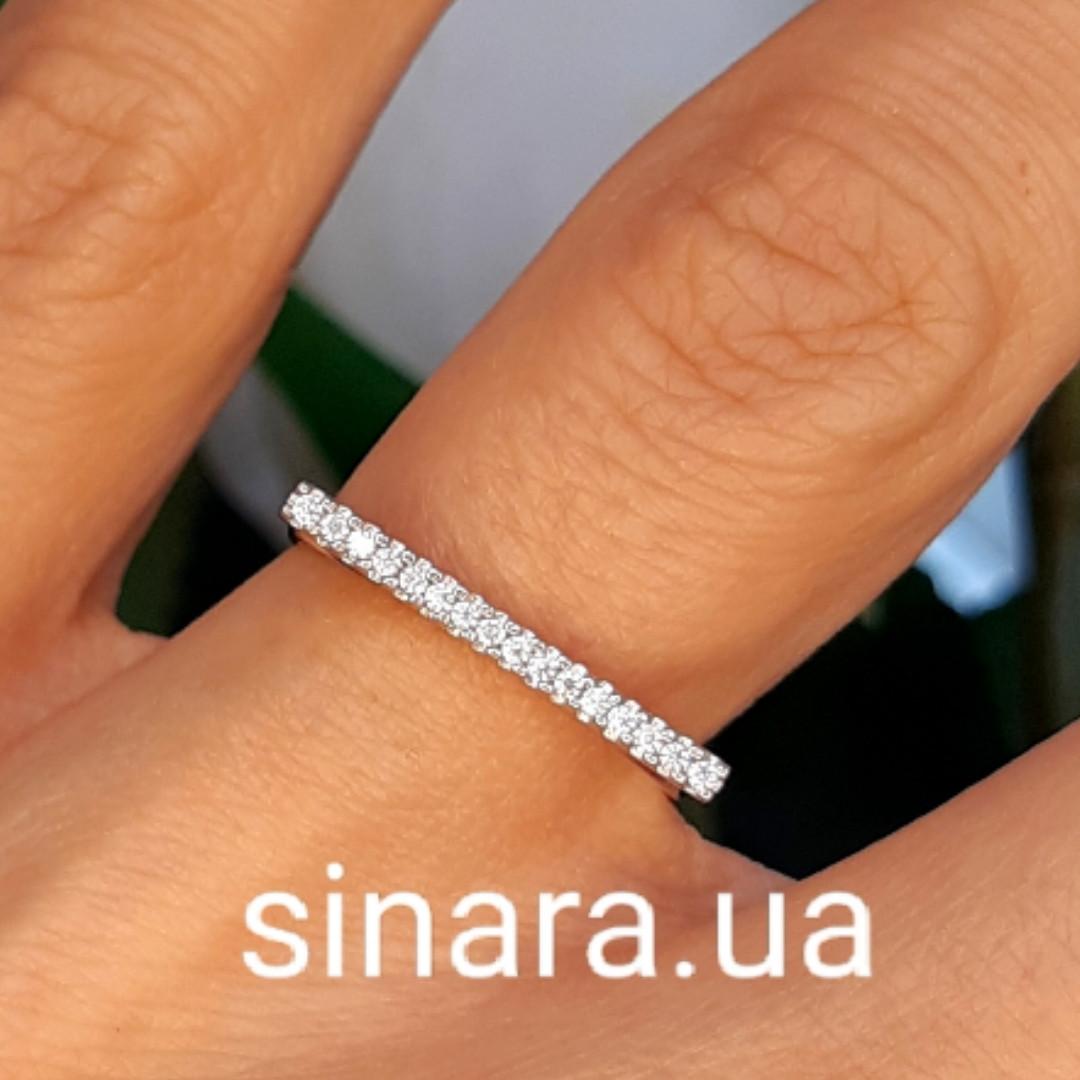 Фаланговое серебряное кольцо Палочка родированное