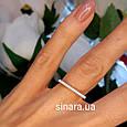 Фаланговое серебряное кольцо Палочка родированное, фото 3
