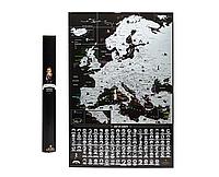 Скретч карта Европы My Map Europe edition (английский язык) в тубусе, фото 1