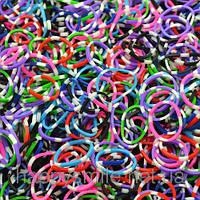 Резинки Loom Bands в полоску, упаковка 200 шт