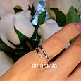 Серебряное кольцо минимализм - Фаланговое серебряное минималистическое кольцо, фото 4