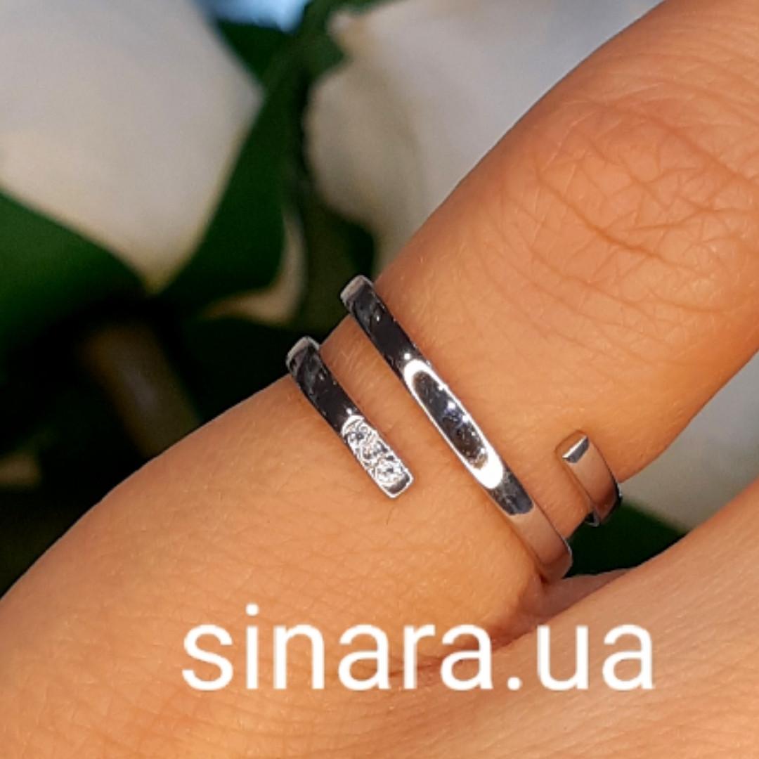 Серебряное кольцо минимализм - Фаланговое серебряное минималистическое кольцо