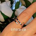 Серебряное кольцо минимализм - Фаланговое серебряное минималистическое кольцо, фото 2