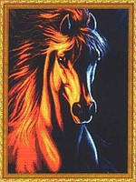 Набор для вышивания крестиком Лошадь. Размер: 31*43,5 см