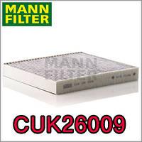 Угольный фильтр салона Mann Cuk 26009 Skoda Octavia III (A7), Audi A3, VW Golf VII, Seat Leon III