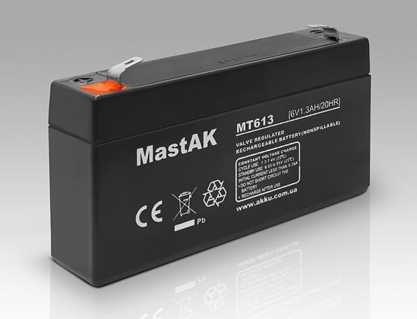 Акумулятор MastAK MT613 ( 6v1.3Ah )