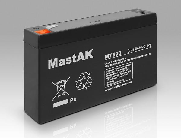 Аккумулятор MastAK MT670( 6v 7Ah)