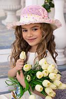 Красивая детская шляпка «Съюзи» - 1827 розовый