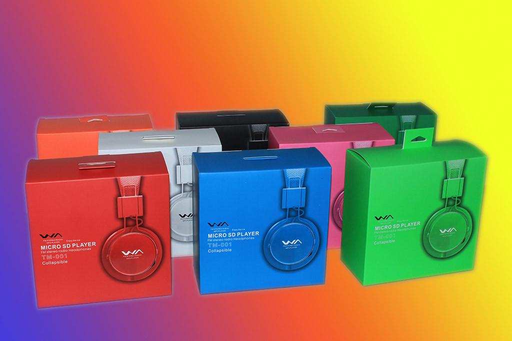 Наушники с MP3 Плеером FM Радио WA TM-001 (качество)