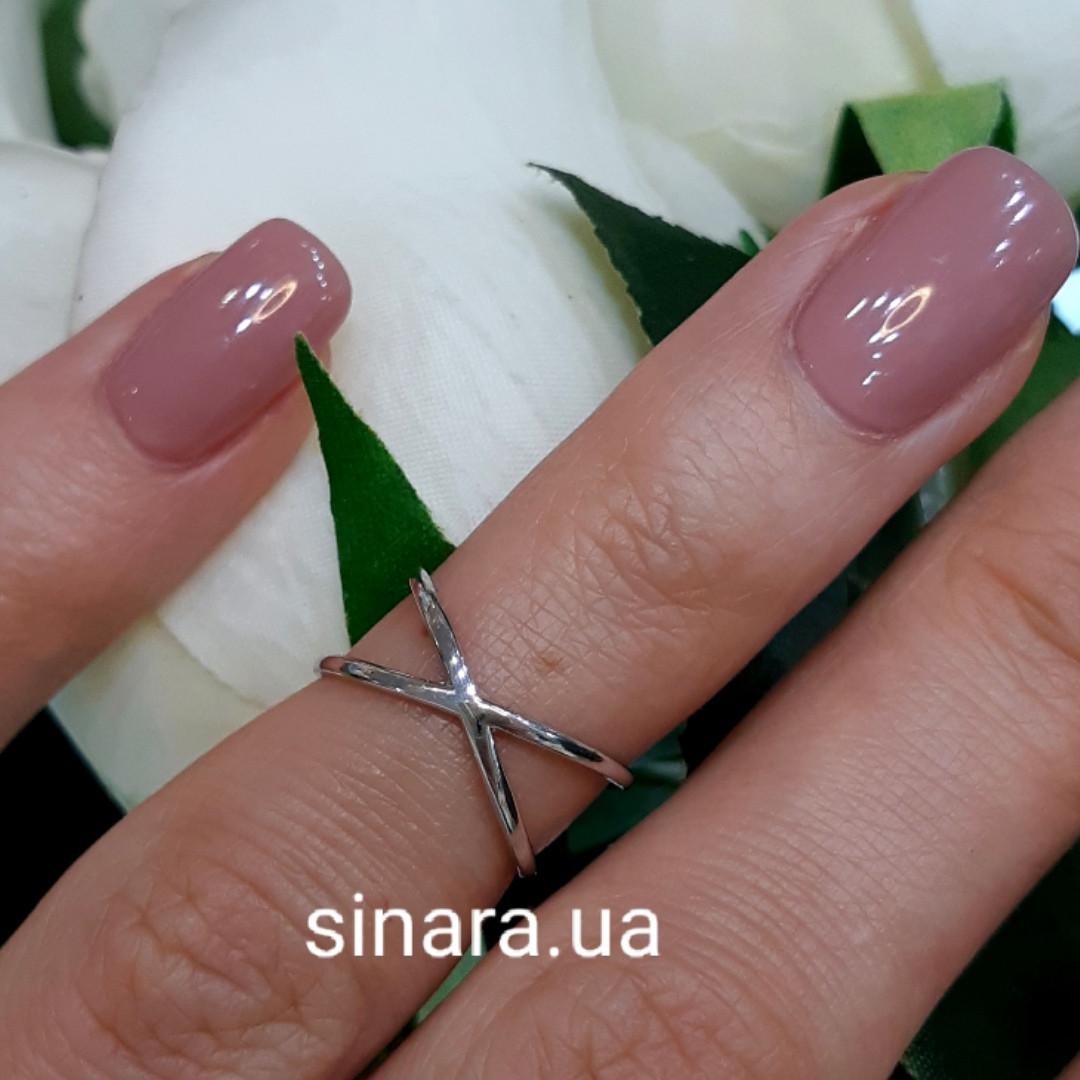 Кольцо фаланговое серебряное