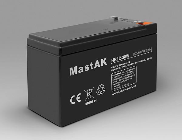 Аккумулятор MastAK HR12-38W  (12v 9Ah)