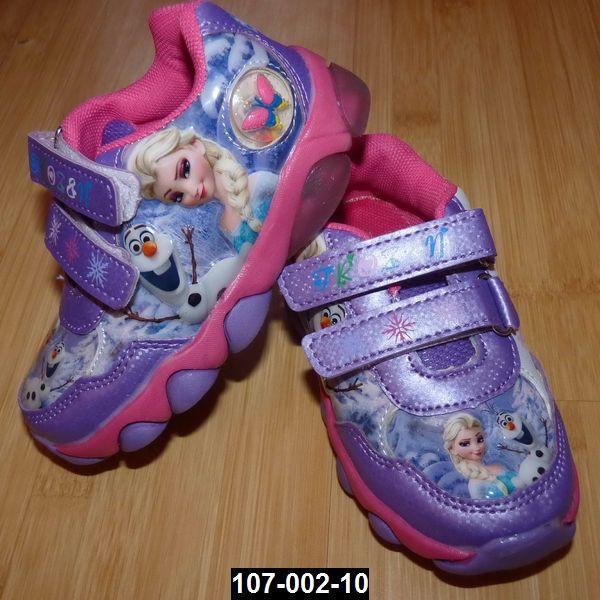 Кроссовки с мигалками для девочки Холодное сердце, 22 размер (13.5 см)