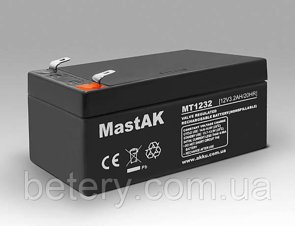 Акумулятор MastAK MT1232 (12v3.2Ah)