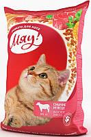 Мяу! корм для взрослых кошек вкусное мяско, 11 кг