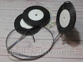 Лента парча, 6мм (22метра), цвет - черный