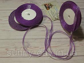 Лента парча, 6мм (22метра), цвет - фиолетовый