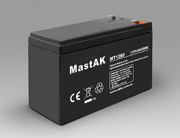 Акумулятор MastAK MT1280 ( 12v 8Ah )