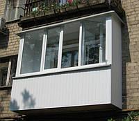 Остекление балкона в хрущёвке 3 м