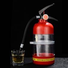 Резервуар для коктейлей в виде огнетушителя. Емкость для напитков, для алкоголя 1,5л., фото 2