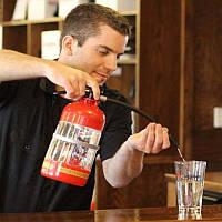 Резервуар для коктейлей в виде огнетушителя. Емкость для напитков, для алкоголя 1,5л.