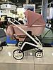 Дитяча універсальна коляска-люлька Riko Molla 01 Powder Pink (Люлька+рама), фото 2