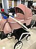 Дитяча універсальна коляска-люлька Riko Molla 01 Powder Pink (Люлька+рама), фото 3