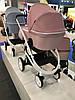 Детская универсальная коляска-люлька Riko Molla 01 Powder Pink (Люлька+рама), фото 4