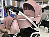 Дитяча універсальна коляска-люлька Riko Molla 01 Powder Pink (Люлька+рама), фото 5