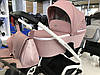 Детская универсальная коляска-люлька Riko Molla 01 Powder Pink (Люлька+рама), фото 6