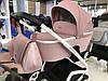 Дитяча універсальна коляска-люлька Riko Molla 01 Powder Pink (Люлька+рама), фото 6