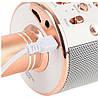 Беспроводной караоке микрофон с динамиком  Bluetooth USB WS 858 золотой, фото 10