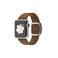 Умные часы Apple Watch на кожаном ремешке с современной пряжкой 38 мм