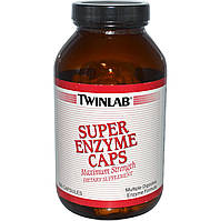 Twinlab, Супер энзимы для пищеварения, Super Enzyme Caps, 200 капсул