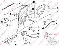 Трос ручки двери боковой правой раздвижной внутренней Fiat Fiorino-qubo (2007-……) 1352920080