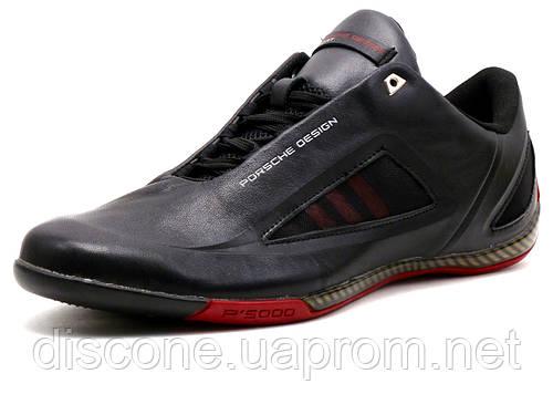 Кроссовки мужские Adidas Porsche Design Р 5000 drive athletic II, кожаные, черные/ красные
