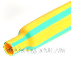 Трубка термоусадочная 2,4/0,8мм, жёлто-зелёная, 1м.