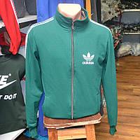 Мужская фирменная кофта на замке Adidas (зеленая)