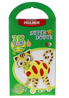 Масса для лепки Paulinda Super Dough 3D FUN Кот PL-081284