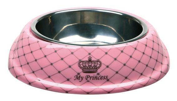 Trixie  My Prince Миска для собак (сталь + меламин) розовая  0,6