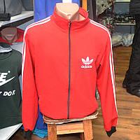 Мужская фирменная кофта на замке Adidas (красная)