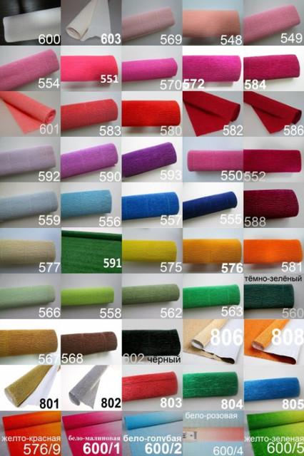Креп бумага(гофробумага),Cartiera Rossi производство Италия.