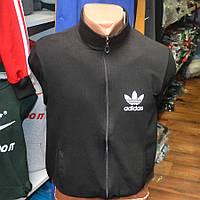 Мужская толстовка Adidas черного цвета с замочком