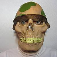 Маска череп в каске на Хэллоуин, фото 1
