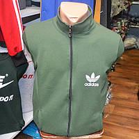 Мужская толстовка Adidas зеленого цвета с замочком