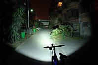 Мощный фонарь на велосипед 2200LM. Велофара CREE XML XM-L T6